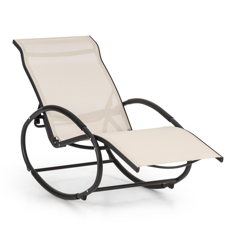 Sedie A Dondolo Per Terrazzo dettagli su lettino sdraio basculante poltrona dondolo giardino piscina  sedia mare spiaggia